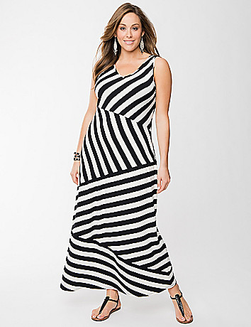 Full Figure Striped Maxi Dress by Lane Bryant