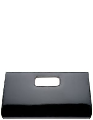 Patent colorblock clutch by Lane Bryant