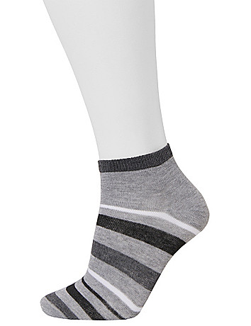 Low cut diamond & stripe socks 3 pack by Lane Bryant