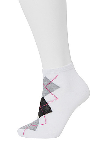 Low cut argyle socks 3 pack by Lane Bryant