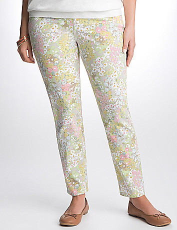Full Figure Floral Skinny Jean by Lane Bryant