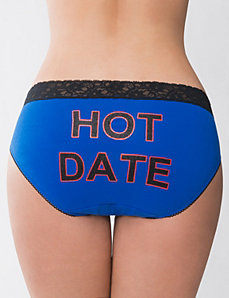 Hot Date cotton hipster panty by Cacique