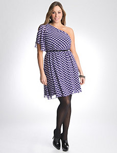 Full Figure One Shoulder Dress by Lane Bryant