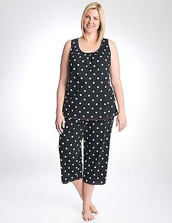 Polka dot tank & crop sleep set