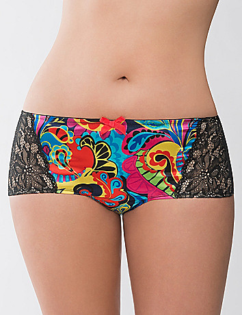 Picasso paisley boyshort panty by Cacique