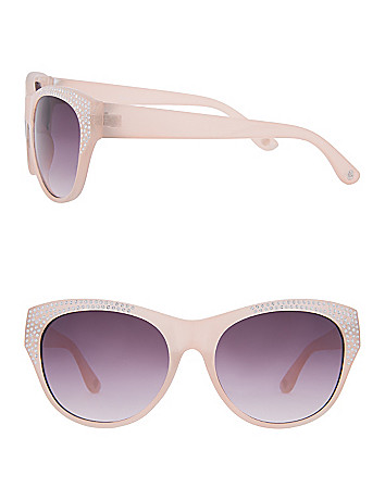 Rhinestone cat eye sunglasses by Lane Bryant