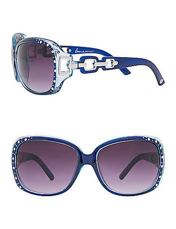 Embellished frame sunglasses by Lane Bryant
