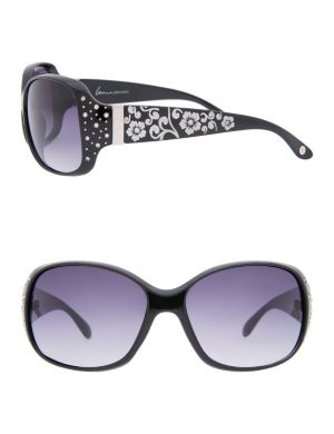 Etched floral sunglasses