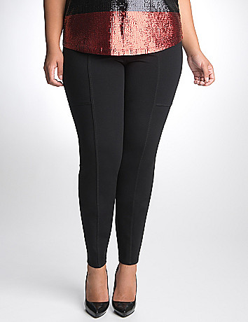 Full Figure seamed ponte pant by DKNY JEANS