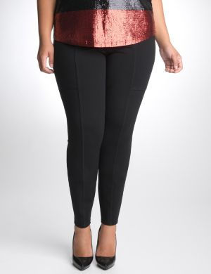 Seamed ponte pant by DKNY JEANS