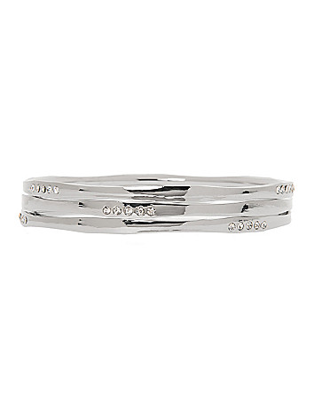 3 row curved bangle bracelet set by Lane Bryant
