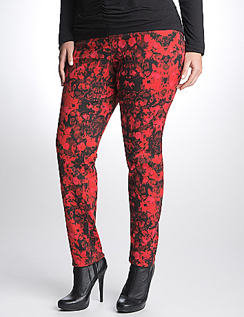 Full Figure Mirage floral jegging by DKNY JEANS