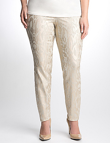 Full Figure Metallic moth print jegging by DKNY JEANS