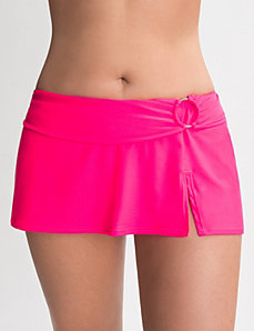 Belted swim skirt by Cacique