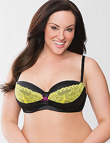 Pleated demi bra