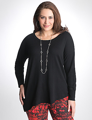Plus Size Asymmetric hem sweater by DKNY JEANS
