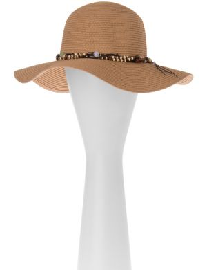Beaded floppy hat