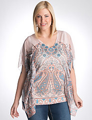 Studded paisley poncho by Seven7