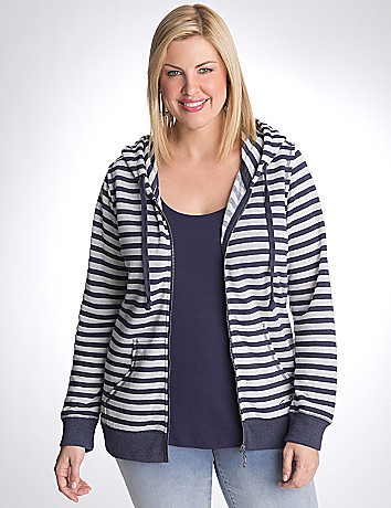 Striped hoodie by Seven7