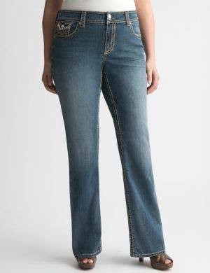 Embellished bootcut jean by Seven7