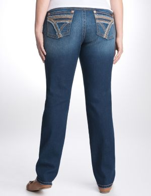 Frayed trim skinny jean by Seven7