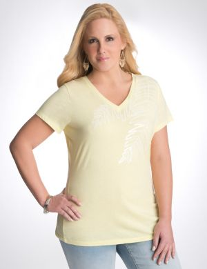 Sequin palm tee by Seven7