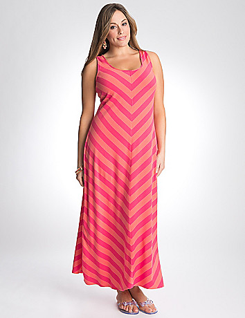 Plus size chevron maxi dress by Lane Bryant