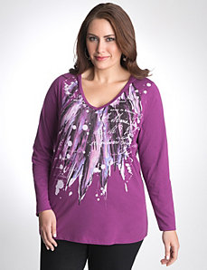 Plus Size Feather Hoodie by Lane Bryant