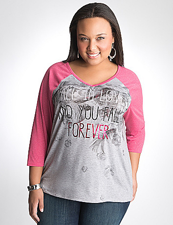 Full Figure Baseball Tee by Lane Bryant