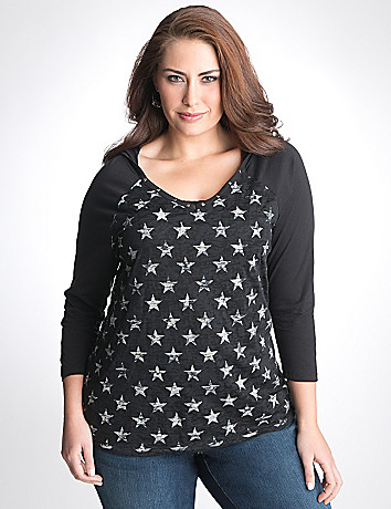 Star burnout hoodie by Lane Bryant