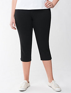 Black jegging capri