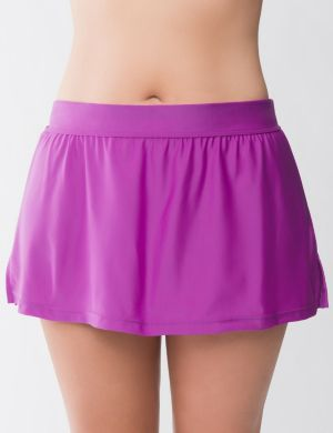 Beach Basics solid swim skirt