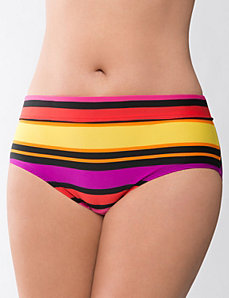 Beach Basics striped swim hipster by LANE BRYANT