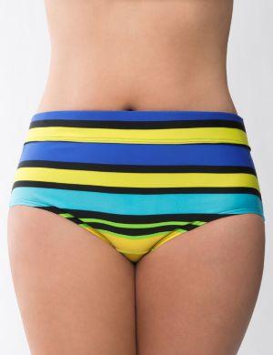 Beach Basics striped swim hipster