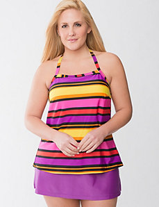 Striped tankini swim top by Cacique