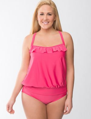 Beach Basics blouson swim tank
