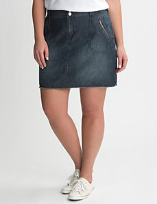 Denim mini skort by Lane Bryant