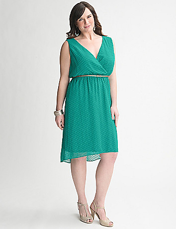 Clip Dot Dress by Lane Bryant