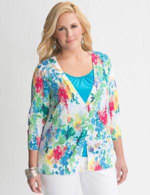 Sequin floral cardigan