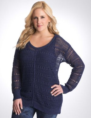 Metallic pullover sweater by DKNY JEANS