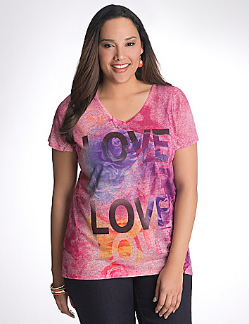 Plus Size High Low Tee by Lane Bryant