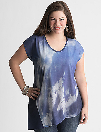 Asymmetric cloud top by DKNY JEANS
