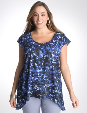 Glass print top by DKNY JEANS