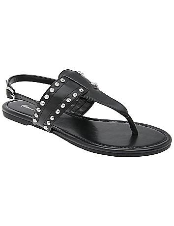 Lane Bryant T-strap studded sandal
