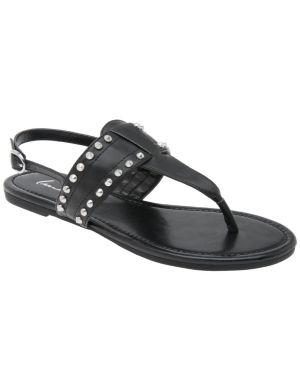 T-strap studded sandal