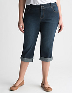 Genius Fit™ denim capri