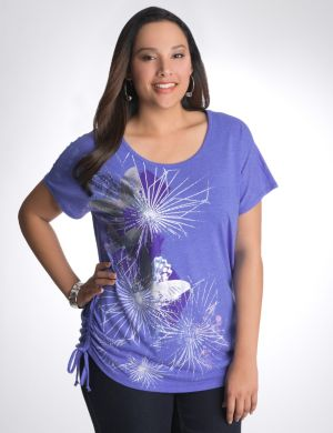 Foiled butterfly graphic tee
