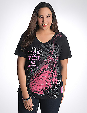Full Figure Rock Concert Tee by Lane Bryant