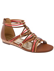 Beaded gladiator sandal by Lane Bryant