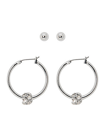 Stud & hoop earring duo by Lane Bryant